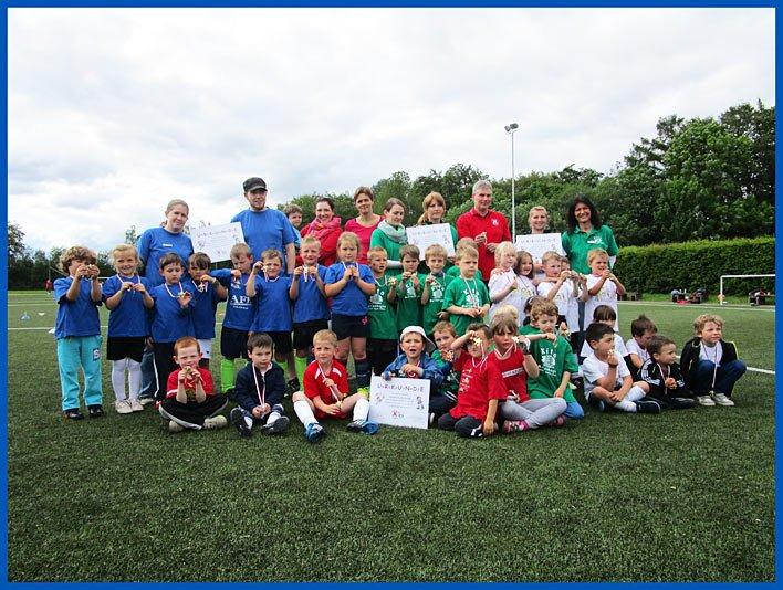 Fußballfest der städtischen Kitas in Marienhagen
