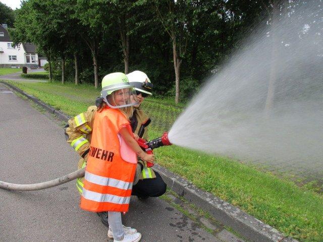 Brandschutzerziehung bei der Feuerwehr in Bielstein